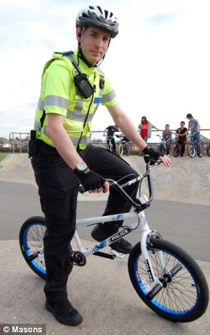 A police force has been ridiculed for using marked BMX bikes in a bid to bond with hoodies