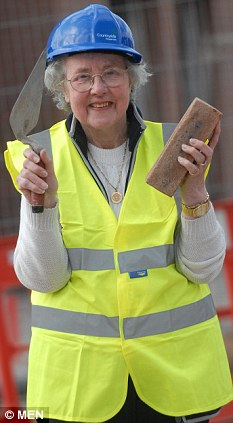 At the age of 85 Dorothy Gartell has become proficient in bricklaying, joinery and even repairing a burst water pipe