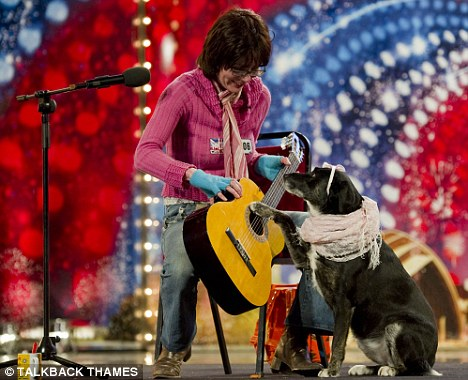 Dog's life: This Saturday's show features yet another act featuring a talented dog - this time the pooch plays his owner's guitar