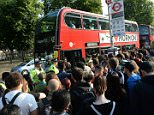 People queue for buses at Stratford station, London, as commuters face travel misery trying to get to work because of a strike which has brought London Underground to a standstill. PRESS ASSOCIATION Photo. Picture date: Thursday July 9, 2015. Thousands of workers launched a 24-hour walkout last night which will disrupt services until Friday morning. See PA story INDUSTRY Tube. Photo credit should read: Stefan Rousseau/PA Wire