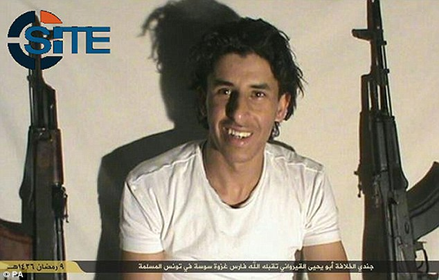 Larger operation: Security services believe he was part of an IS cell operating and are hunting 62 suspected militants