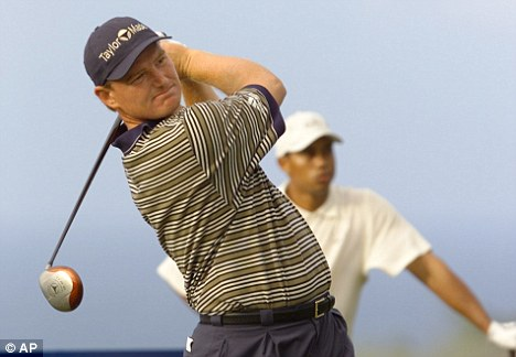Tiger Woods and his great rival Ernie Els
