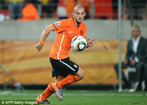 One of the stars: Wesley Sneijder has greatly impressed at the World Cup