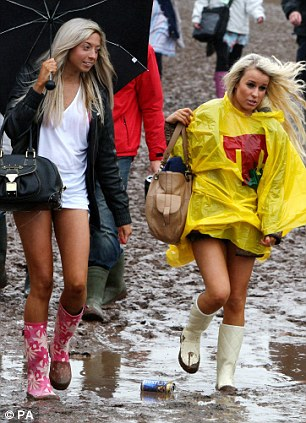 Fans brave the muddy conditions at T in the Park music festival