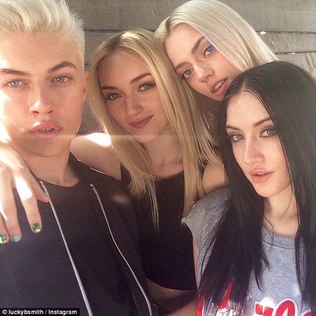 From left to right: The Smith family, consisting of Lucky Blue, Daisy Clementine, Pyper and Starlie