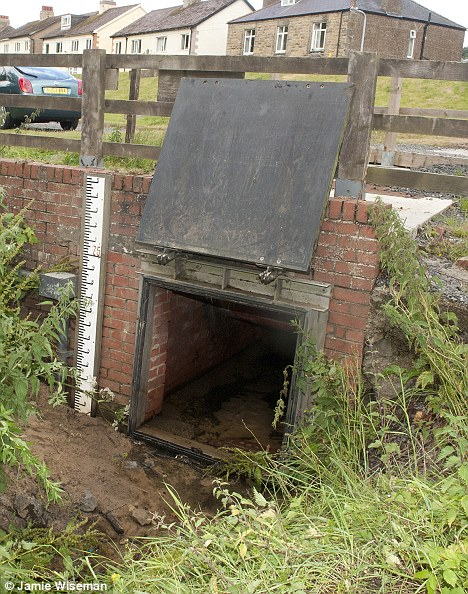 Hiding place: A surface water storm drain believed to be the one which Moat concealed himself in