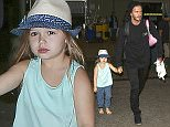 12.JULY.2015 - LOS ANGELES - USA *** EXCLUSIVE ALL ROUND PICTURES *** *** STRICTLY NOT AVAILABLE FOR USA *** DAVID BECKHAM AND HIS CHILDREN ARE SEEN ARRIVING AT LOS ANGELES INTERNATIONAL AIRPORT IN CALIFORNIA. DAVID'S DAUGHTER, HARPER, TURNED 4 ON THE 10TH OF JULY. BYLINE MUST READ : XPOSUREPHOTOS.COM ***UK CLIENTS - PICTURES CONTAINING CHILDREN PLEASE PIXELATE FACE PRIOR TO PUBLICATION *** **UK CLIENTS MUST CALL PRIOR TO TV OR ONLINE USAGE PLEASE TELEPHONE  44 208 344 2007**
