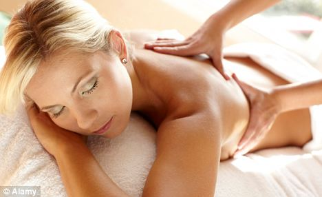 The almond scrub and vigorous massage left skin feeling smooth and firm