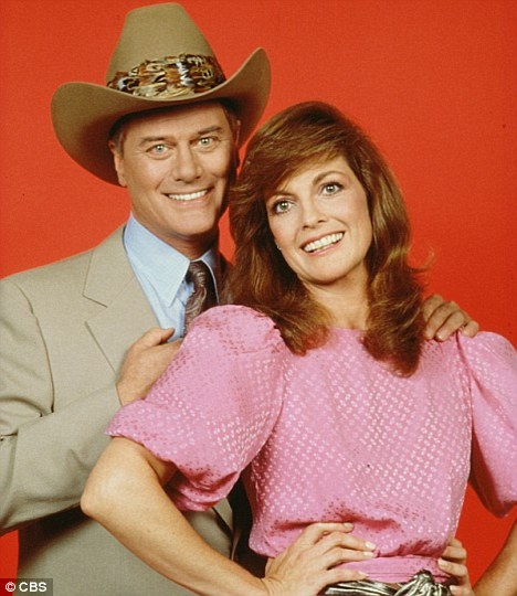 Defining roles: Larry and co-star Linda Gray became an international stars on the hit series Dallas