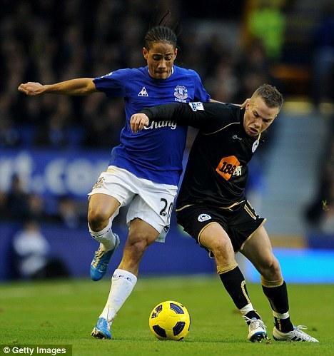 Going? Steven Pienaar (left) could leave Everton in January