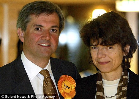 Divorcing: Chris Huhne is living in a rented flat near the House of Commons as he gets set to divorce Vicky Price