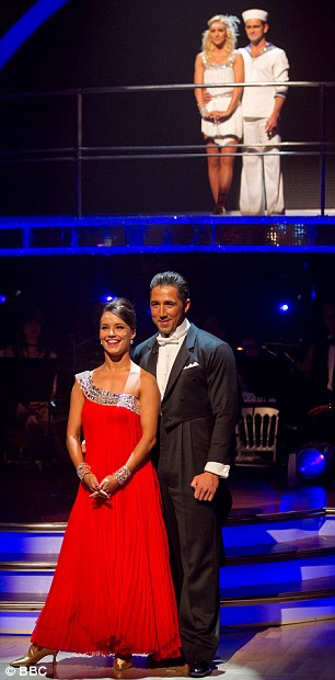 Ender the road: Rugby star Gavin Henson, front, and EastEnders actor Scott Maslen, far, were eliminated from Strictly last night in a double eviction
