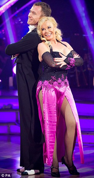 Top score: Pamela Stephenson and James Jordan were awarded full marks for their efforts on the dance floor and, right, Matt Baker and Aliona Vilani
