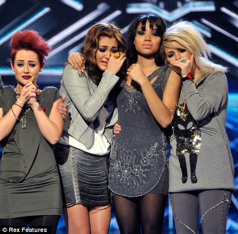 Sad to leave: As the girls were booted out of the competition they said performing together was 'amazing'