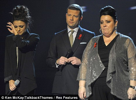 Unfair?: Cher Lloyd was chosen to go  through to the X Factor finals by the judges rather than Mary Byrne