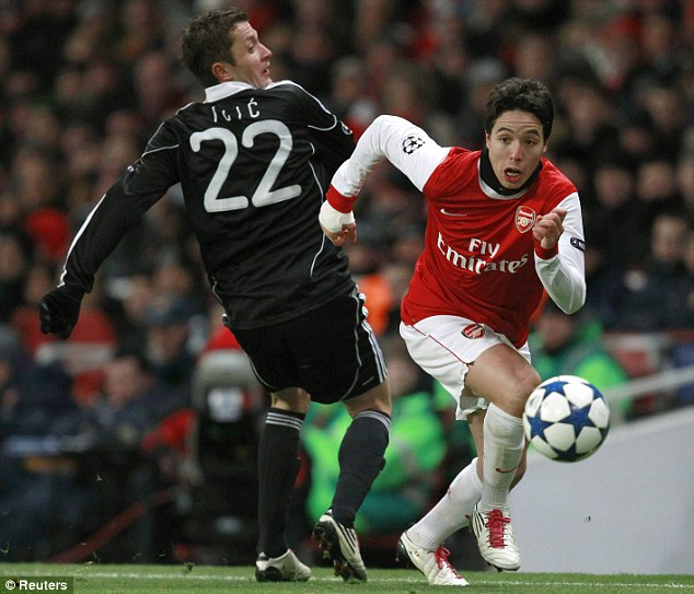 On a mission: Nasri has been in top form this season as they bid to end trophy drought