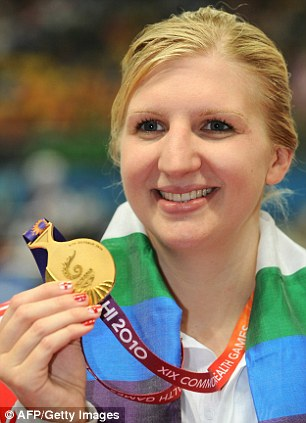 Born winner: Rebecca Adlington with her 400m freestyle Commonwealth gold medal