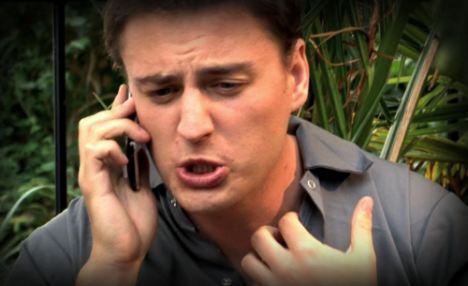 Actor Matt Lacey as posh twit Orlando in his 'gap yah' YouTube video