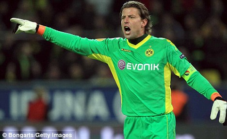 This way to Villa Park: Roman Weidenfeller is set to join Houllier's men at the end of the season