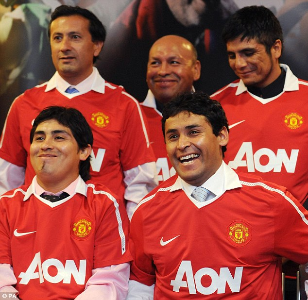 Fancy a game? The Chilean miners have challenged Fergie's men to a match