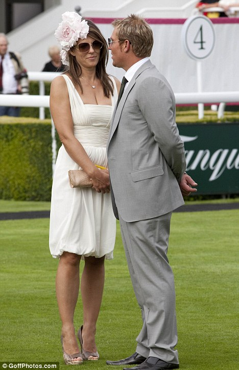 Close: The pair first met at Goodwood races in July, though it was reported at the time that they were old friends