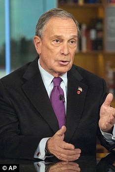 I've got a great job: New York Mayor Michael Bloomberg speaks to NBC's Meet The Press yesterday