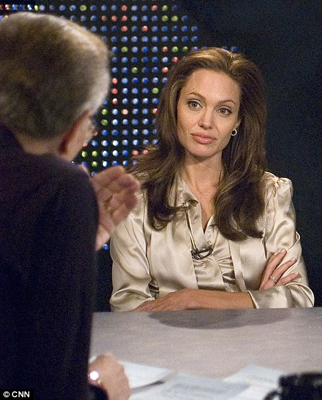 Angelina Jolie chatting with King on  Dec. 11, 2006