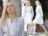 Picture Shows: Elle Fanning  July 12, 2015    'The Dancer' actress Elle Fanning out shopping with her mother and grandmother in Beverly Hills, California.    The ladies started off in Beverly Hills before heading over to The Grove to finish their day of shopping.     Exclusive - All Round  UK RIGHTS ONLY    Pictures by : FameFlynet UK © 2015  Tel : +44 (0)20 3551 5049  Email : info@fameflynet.uk.com