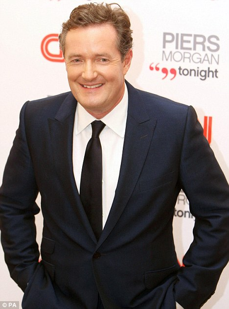 In with the new: Former Daily Mirror editor, Piers Morgan will be taking over from King in January, something he says is like following 'Sinatra in Vegas'
