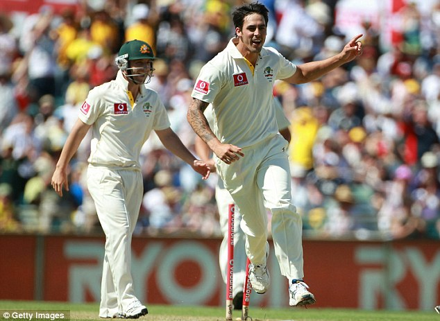 Sixy bowling: Johnson has been the hero for Australia today - ending the innings with six wickets