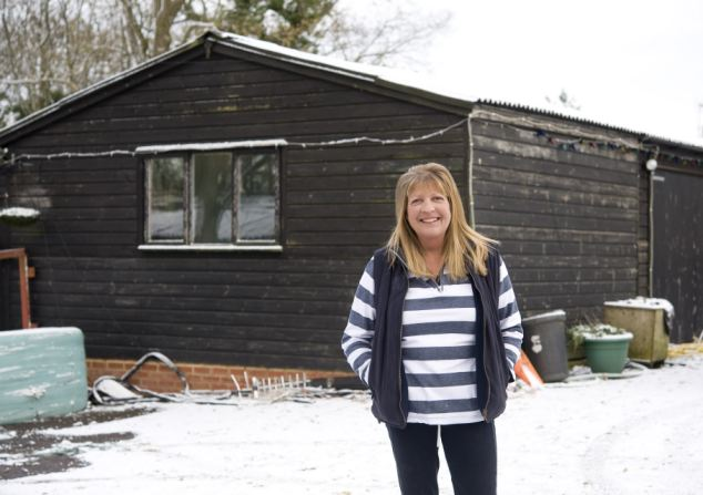 Sanctuary: Sara shares her outbuilding with 20 animals - including tawny owl Wol - which she has rescued