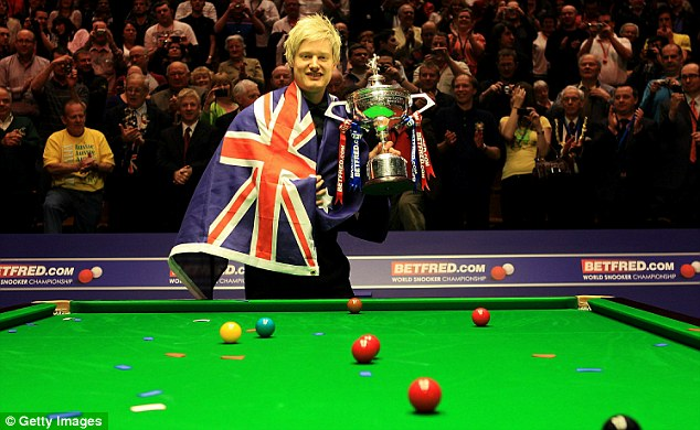 Top of the world: Neil Robertson grabbed Crucible glory in May