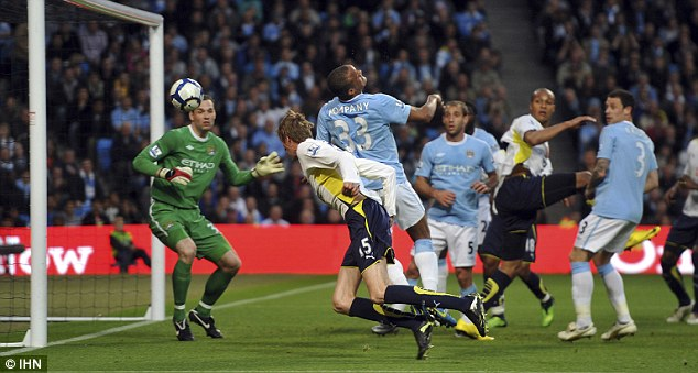 Heads up: Crouch nods home Spurs' winner at Manchester City to book Champions League football
