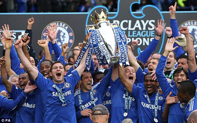 We are the champions: Chelsea win the Premier League title with a 8-0 win over Wigan