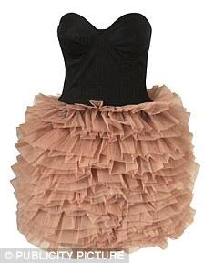 Ruffled corset dress, £165, topshop.co.uk
