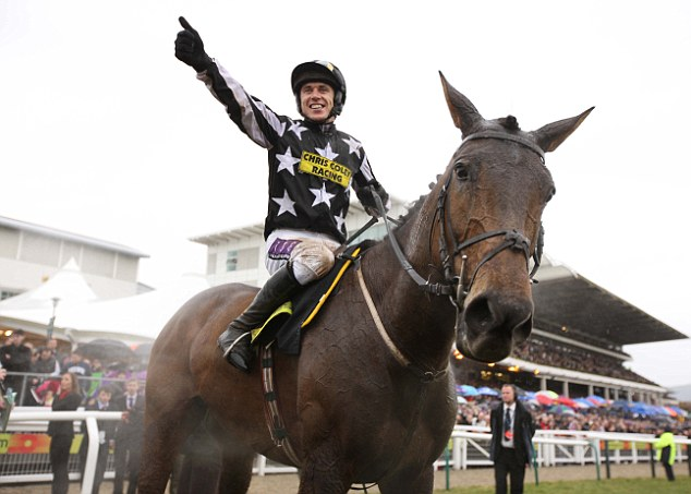 Memories are made of this: Paddy Brennan celebrates after winning the Cheltenham Gold Cup on Imperial Commander