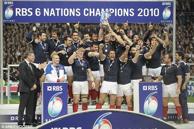 Magnifique: France players celebrate after clinching the Grand Slam