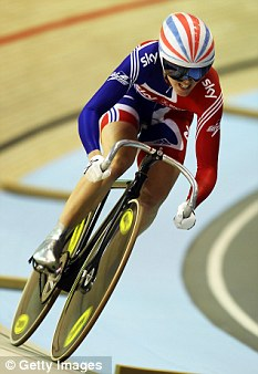 She's wheely, wheely good: Victoria Pendleton claimed a gold in Colombia