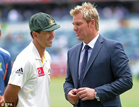 Don't worry, you might not need me: Shane Warne talks to Ponting in Perth
