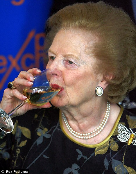 Premier choice: Mrs Thatcher called a 1961 Chateau Margaux 'silky