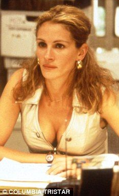 Real life danger: Actress Julia Roberts as environmental campaigner Erin Brockovich in the 2000 film of the same name. The real Erin Brockovich has issued a warning over cancer causing chemicals in the tap water of U.S. cities