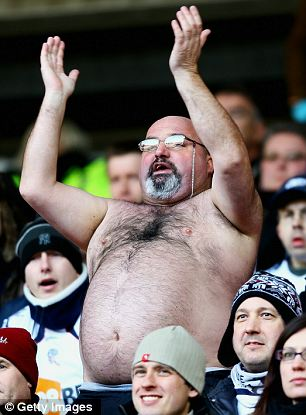 A Bolton fan braves the North-East chill