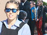 Picture Shows: Miley Cyrus  July 11, 2015\n \n Actress Miley Cyrus and her girlfriend Stella Maxwell spotted out for lunch at Nobu in Malibu, California. Miley looked like she could be in the Amish Mafia and Stella looked like she just got out of bed.\n \n Non-Exclusive\n UK RIGHTS ONLY\n \n Pictures by : FameFlynet UK © 2015\n Tel : +44 (0)20 3551 5049\n Email : info@fameflynet.uk.com