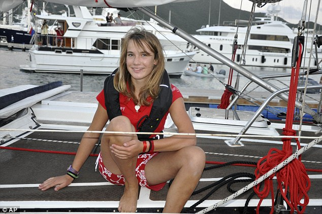 Welcome sight: Laura arrives in St. Maarten after her three-week solo voyage across the Atlantic
