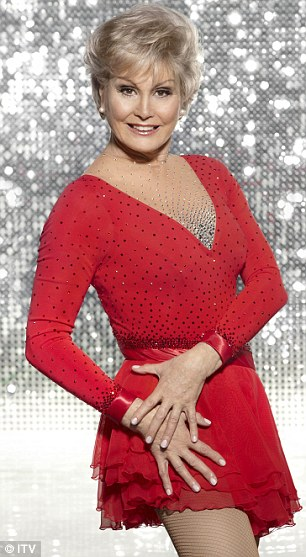 Ladies in red: Denise Welch and Angela Rippon are representing the more mature woman on the show