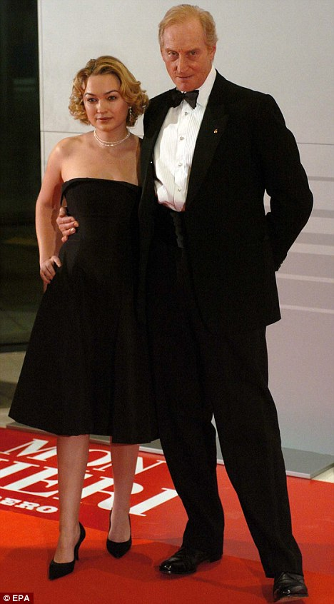 Young love: Charles with actress Sophia Myles in 2004, who he dated for two years