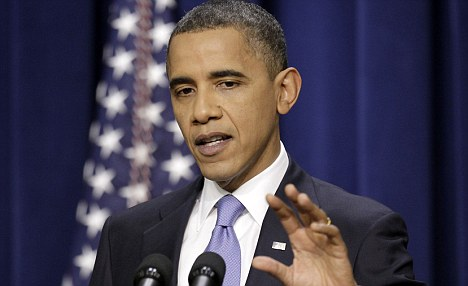 Open-minded: At a press conference on Wednesday, President Obama stood by his opposition to same sex marriage, but indicated that he might change his mind in the future