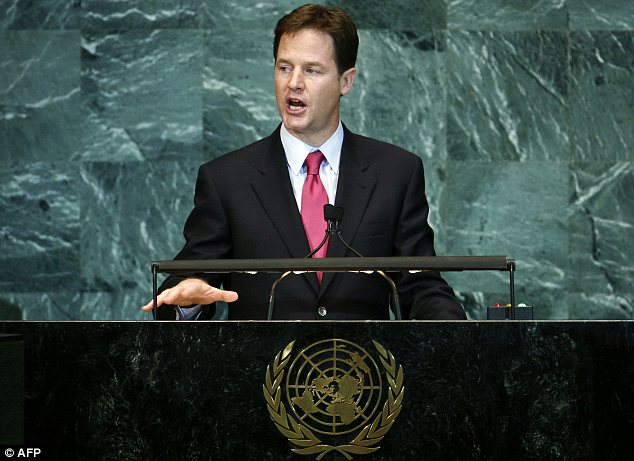 Nick Clegg strongly condemned the Iranian President during his speech at the 65th United Nations General Assembly in New York
