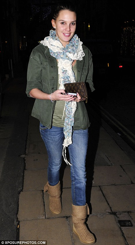 Make-up free: The glamour model was dressed down and barefaced for her shopping trip to London's trendy Bond Street