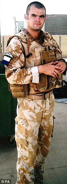 The job he loved: Corporal Steven Dunn of 216 Parachute Signal Squadron, Royal Corps of Signals, died after an explosion in Afghanistan